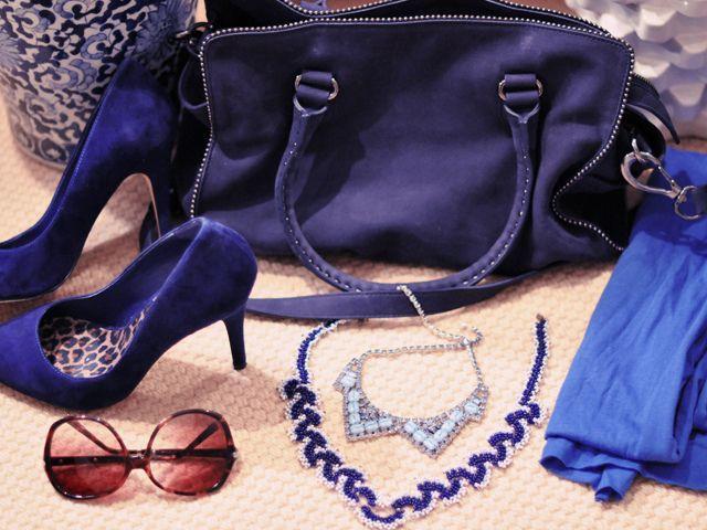Синий цвет в одежде и акксесуарах