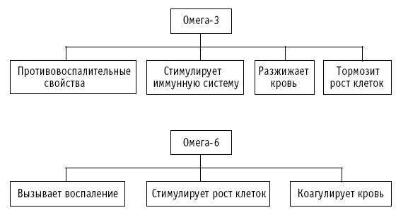 Соотношение Омеги 3 и Омеги 6